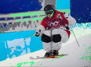 Canadian Freestyle Moguls Gold by David Grieves