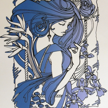 Ink Nouveau Blue Inkie