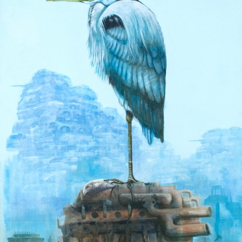 Heron on the Engine by Andrew Burns Colwill